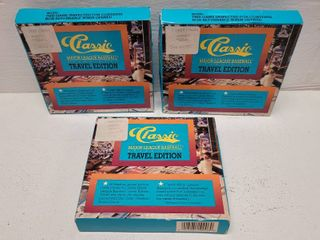 1989 Classic Baseball Complete 50 Card Set Travel Edition lot of 3 New