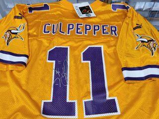 Dante Culpepper Autographed Official Puma Minnesota Vikings Jersey w  COA