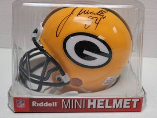 Javon Walker Autographed Green Bay Packers Mini Helmet w  COA