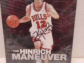 Kirk Heinrich Autographed Chicago Bulls Official Game Program w  COA