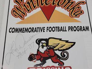 len Dawson Autographed Winnetonka H S  Football Program