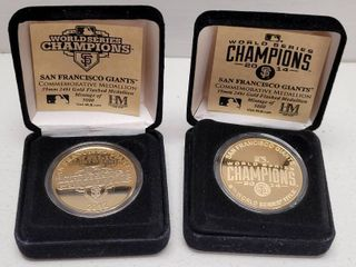 2012   2014 San Francisco Giants World Series Champions Highland Mint Medallion Coins