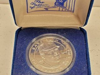 1994 Babe Ruth Sultan of Swat Republic of liberia  1 Dollar Coin