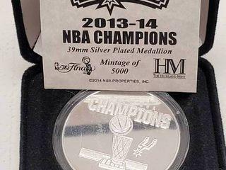 2013 14 San Antonio Spurs NBA Champions Highland Mint Medallion Coin