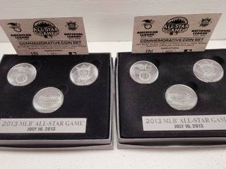 2013 MlB All Star Game Highland Mint 3 Coin Commemorative Sets lot of 2