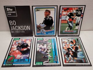 Topps Cardboard Icon Bo Jackson Football Complete Jumbo 5 Card Set limited Edition