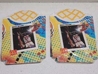 1994 McDonald s NBA Nothing But Net Unused French Fry Box Sets lot of 2 w  Michael Jordan