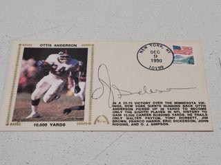 Otis Taylor Autographed Silk Photo Cachet Envelope w  COA