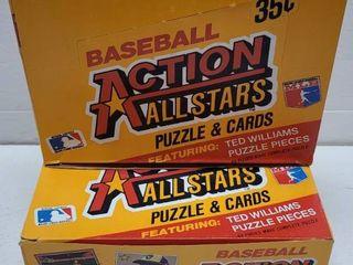 1984 Donruss Baseball Action All Stars Jumbo Cards Unopened Wax Box lot of 2