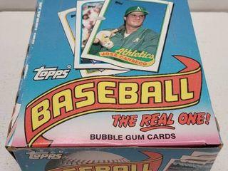 1989 Topps Baseball Cards Unopened Wax Box w  36 Packs