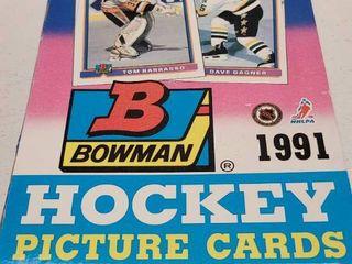 1991 Bowman Hockey Cards Unopened Wax Box w  36 Packs