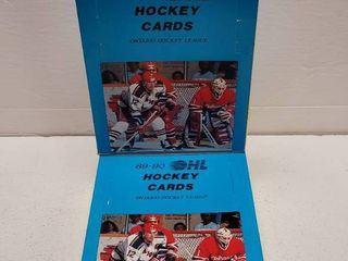 1989 Ontario Hockey league Cards Unopened Wax Box lot of 2 w  Eric lindros
