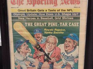George Brett 1983 Sporting News Kansas City Royals Pine Tar Incident Issue