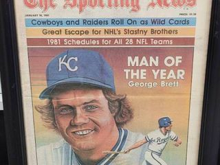 George Brett 1981 Sporting News Man of the Year Issue