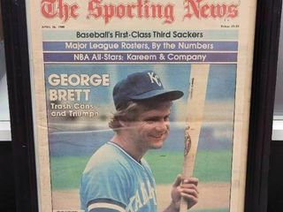 George Brett 1980 Sporting News Kansas City Royals Trashcans   Triumph Issue