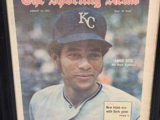 Amos Otis 1971 Sporting News Kansas City Royals His Royal Highness Issue