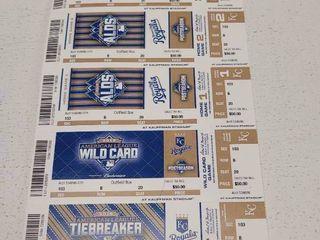 2015 Kansas City Royals AlDS Playoff Original Home Game Tickets