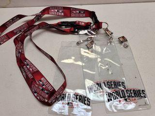 2014 Kansas City Royals Worlds Series Original lanyards W   I Was There  Pin lot of 3