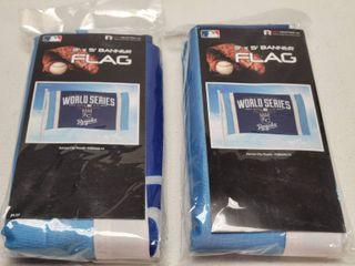 2014 Kansas City Royals World Series 3ft x 5ft Banner Flag lot of 2 New