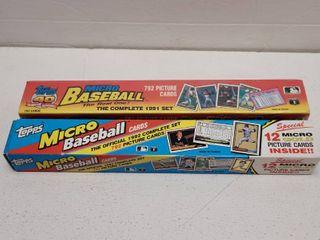 1991   1992 Topps Baseball Micro 792 Card Set w  Chipper Jones Rookie