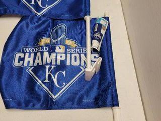 2015 Kansas City Royals World Series Champions Car Flags lot of 2