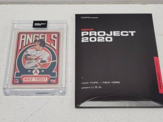Topps Project 2020 Mike Trout by Grotesk limited Edition Online Exclusive