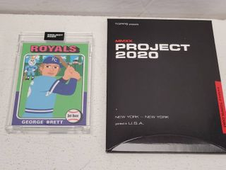 Topps Project 2020 George Brett by Keith Shore limited Edition Online Exclusive