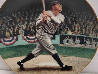 Babe Ruth 1992 Delphi  The Called Shot  Commemorative Collector Plate