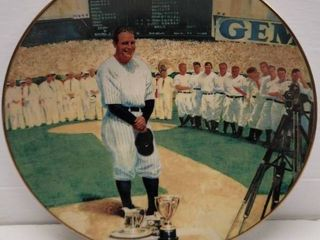 lou Gehrig 1992 Delphi  The luckiest Man  Commemorative Collector Plate