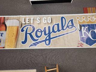 Kansas City Royals Banner  let s Go  10ft x 3ft