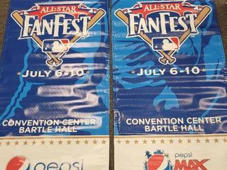 2012 Kansas City Royals All Star Game  FanFest  Dual Side Banner 6ft x 2 5ft lot of 2