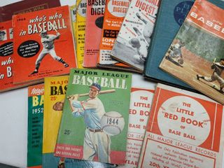 Vintage Baseball Books  Digests   Reference Guides lot of 15
