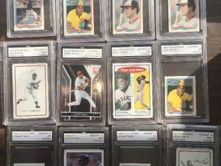 lot of 12 Graded FGS Baseball Cards   Ripken  Pujols  Gwynn   more