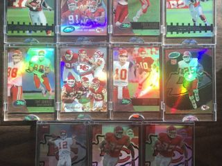 lot of 11 Kansas City Chiefs E Topps Encased Football Cards