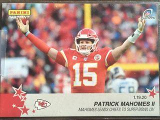 2020 Panini Instant Patrick Mahomes II Kansas City Chiefs Only 233 Made   Super Bowl lIV Champs