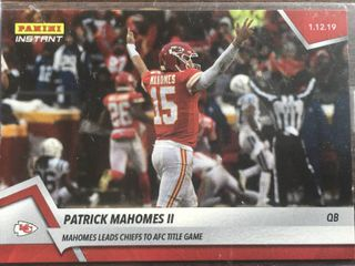 2018 Panini Instant Patrick Mahomes II Kansas City Chiefs Only 104 Made