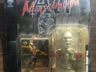 Michael Jordan Air Maximum Figurine With Upper Deck Trading Card