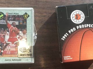 Three Complete Trading Card Sets   Two Basketball Draft Picks   Pro Set European league Cards