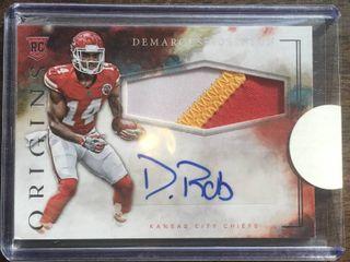 2016 Panini Origins DeMarcus Robinson Jumbo Jersey Autograph Kansas City Chiefs Rookie Card