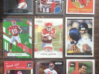 Nine Kansas City Chiefs Football Rookie Cards   Tyreek Hill  Christian Okoye  Tony Gonzalez  Daniel Sorenson   More