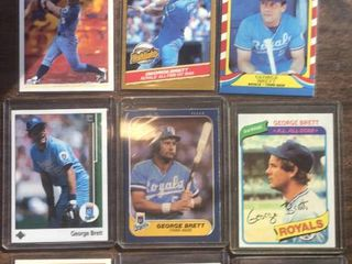 lot of Ten Kansas City Royals George Brett Baseball Card lot with 1980 Topps and Many More
