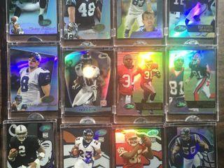 Twelve Topps E Topps Football Trading Cards Encased