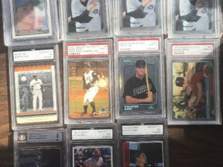 Eleven Professionally Graded Baseball Cards   Minor league and Rookies