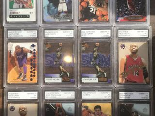 Twelve Professionally Graded Basketball Trading Cards by FGS 2nd Tier Grading Company