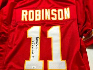 Signed DeMarcus Robinson Kansas City Chiefs  11 Custom Jersey with James Spence Authentication