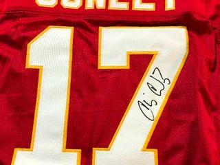 Signed Chris Conley Kansas City Chiefs  17 Custom Jersey James Spence Authentication Witnessed Program