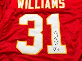 Signed Darryl Williams Kansas City Chiefs  31 Custom Jersey James Spence Authentication Witnessed Program