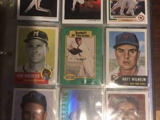 Full Binder Full of Baseball Trading Cards