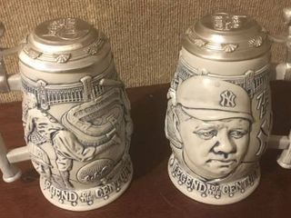 Two Babe Ruth Beer Steins   New York Yankees   Both for one money