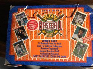 1992 Upper Deck Baseball Trading Card Jumbo Box